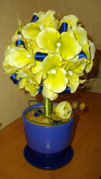 Топиарий (цветочное дерево).  Декоративные деревья из искусственных...
