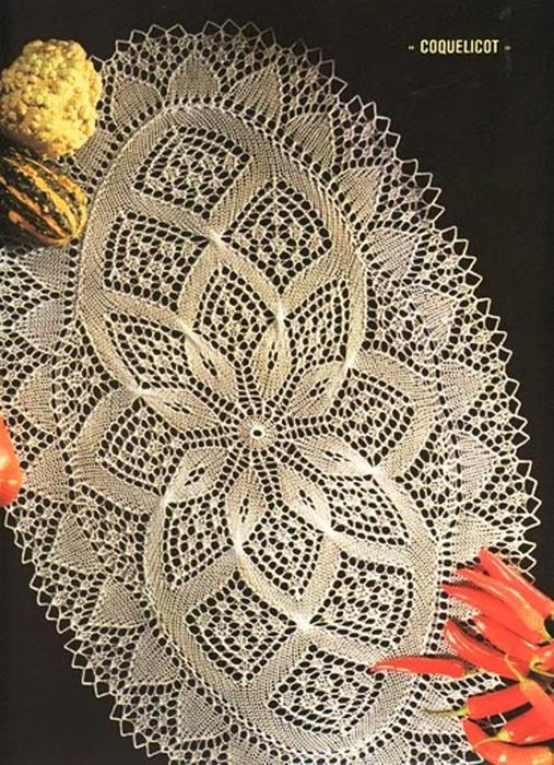 Схемы для вязания салфеток спицами на русском языке 792