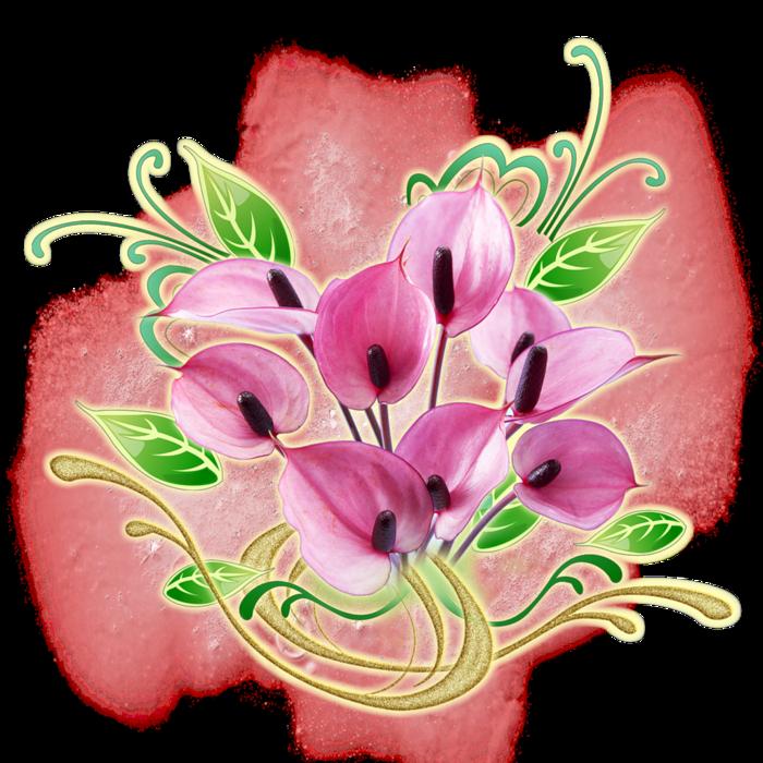 красивые цветы картинки рисованные