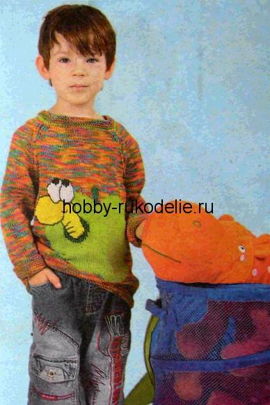 пуловер с червячком на 6 7 лет вязание спицами для детей дневник