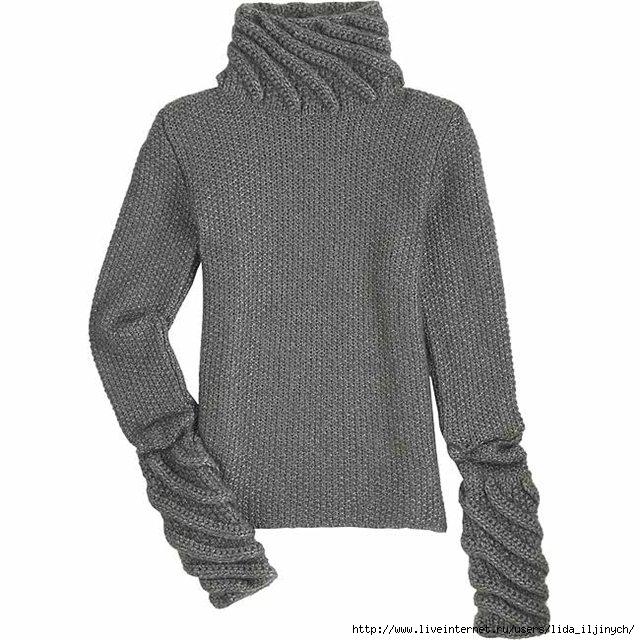 схема вязания спицами свитера крупной вязкой