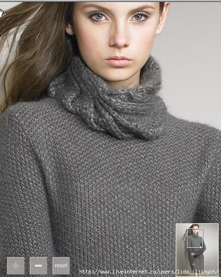 вяжем мужской свитер спицами, свитера вязание.