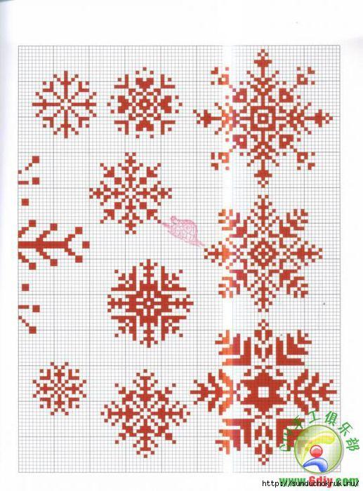 ...мотивов для новогодней вышивки.  Как для вышитых открыток, так и для...
