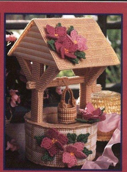 пошаговое изготовление объемных домиков на пластиковой канве