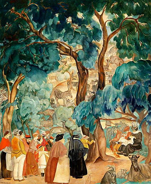 Борис Григорьев. Зоопарк. 1917 (500x607, 180Kb)