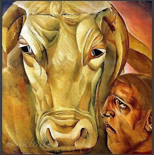 Мужик с быком (516x518, 136Kb)