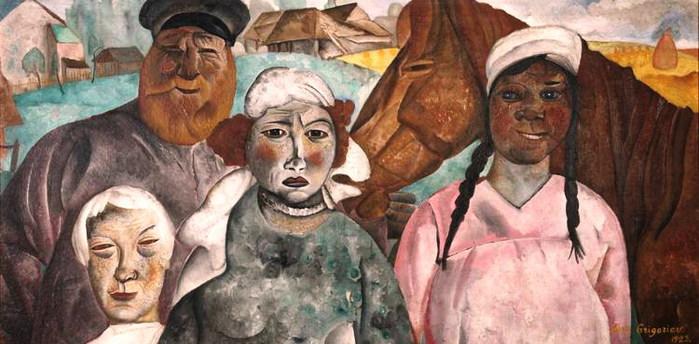 Крестьянская семья 1923 (700x344, 82Kb)