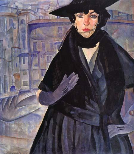 Дама в черном   1917 (450x517, 62Kb)