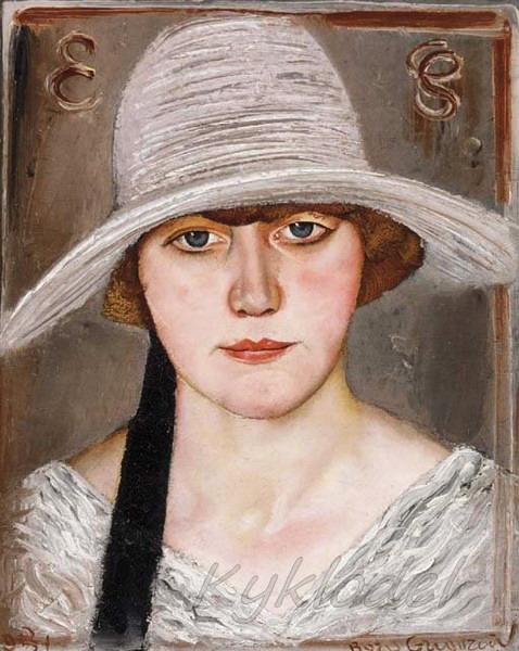 «Женский портрет. В белой шляпе» (478x600, 91Kb)