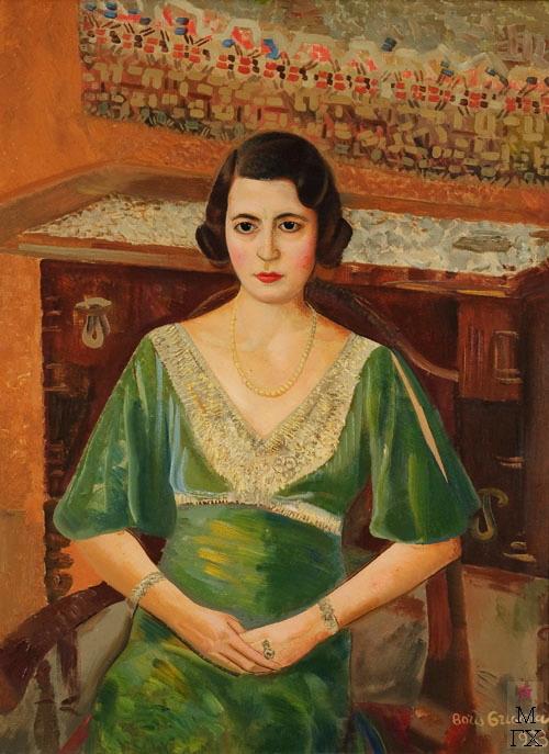 Женщина в зеленом платье. 1933 (500x687, 102Kb)