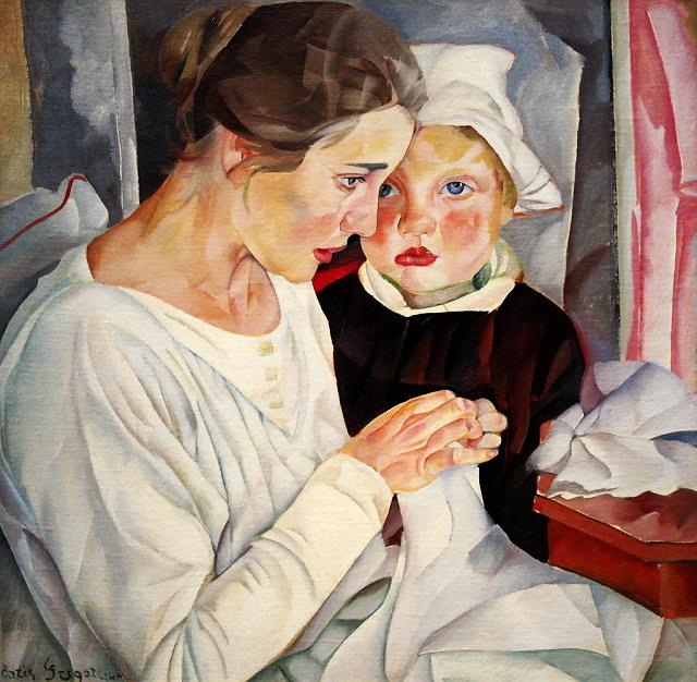 Мать  и  дитя. 1918 (640x626, 131Kb)