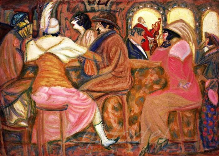 «В парижском кафе» 1919 (700x500, 163Kb)