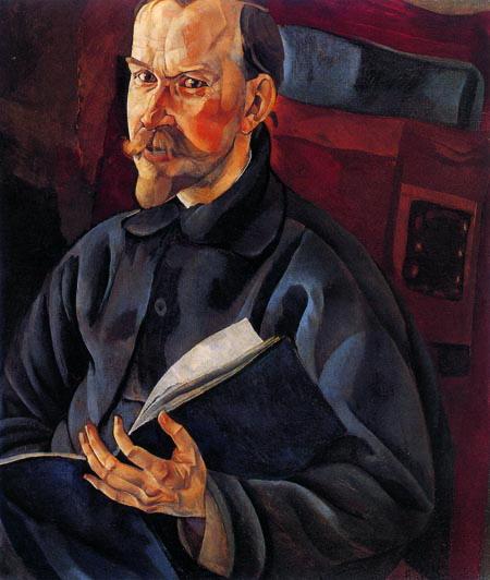Портрет Б.М.Кустодиева, 1917, (450x532, 74Kb)
