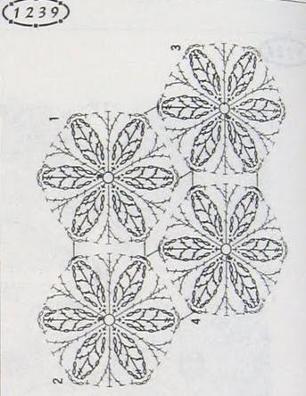 схемы вязания крючком мотивов для пледов покрывал и прочих штучек