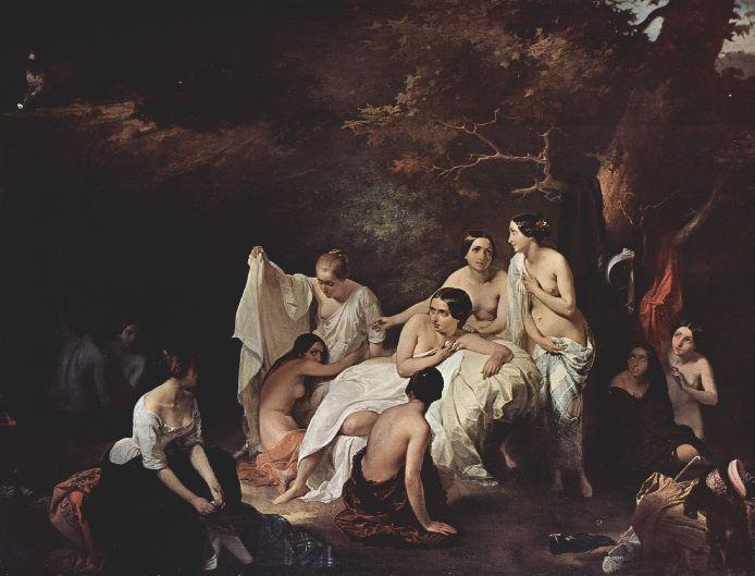 Francesco Hayez 004 - Bad der Nymphen 1831 Купание нимф (694x529, 53Kb)