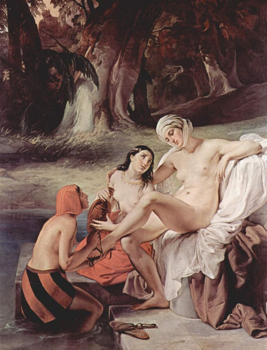 Francesco Hayez 009 - Bathseba im Bade (Купание Вирсавии) 1834 (534x700, 131Kb)
