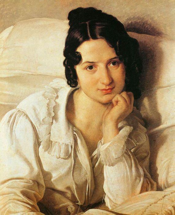 Francesco Hayez 011 - Carolina Zucchi (Больная. Портрет Каролины Цукки) 1825 (570x700, 69Kb)