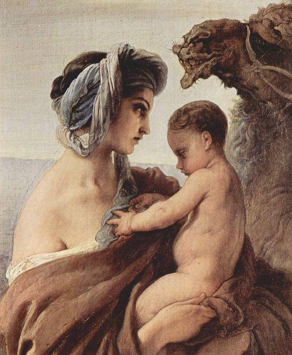 Francesco Hayez 043 - Zusammentreffen von Jakob und Esau 1844 Встреча Иакова и Исава. Фрагмент (576x700, 79Kb)