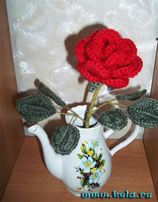 Цветок на стебле крючком