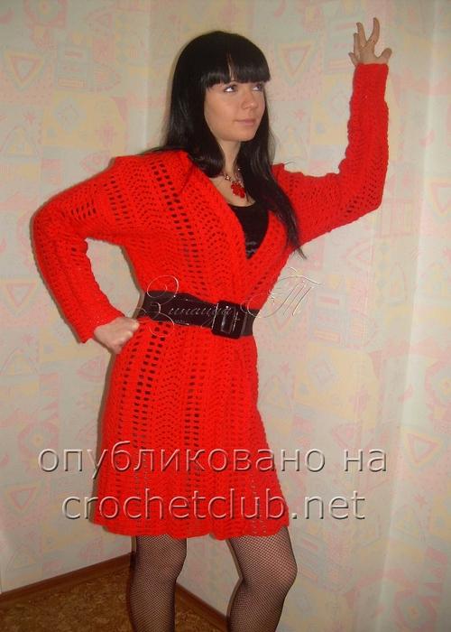 2. 1. Легкое стильное пальто связала крючком Зинаида Тимошенко.