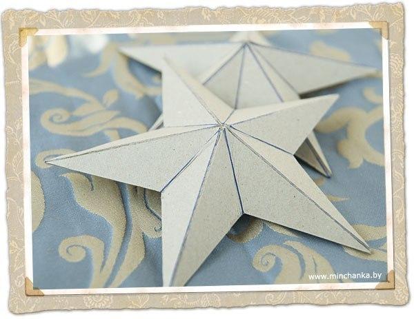 пятиконечная звезда из бумаги своими руками схемы шаблоны