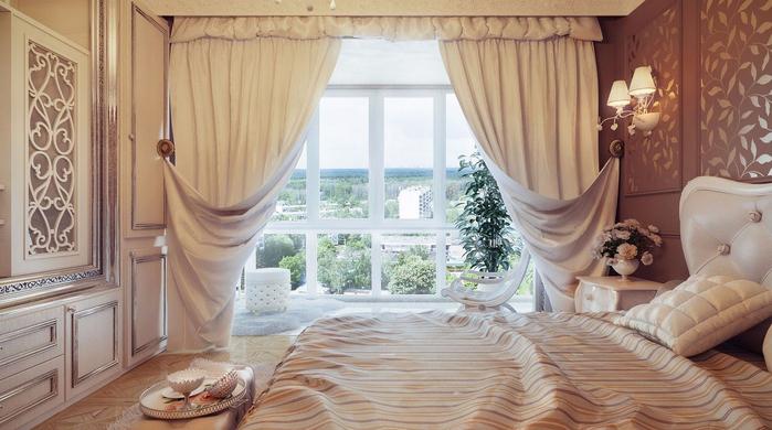 красивые фото шторы для спальни