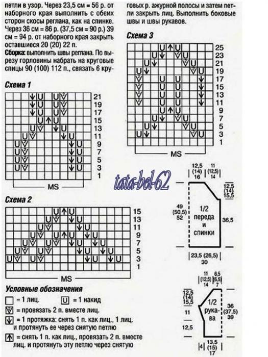 вязание образцов ажурной вязания со схемами