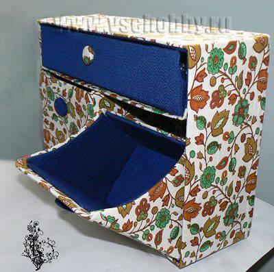 Шкатулка из коробки от обуви мастер класс идеи #10