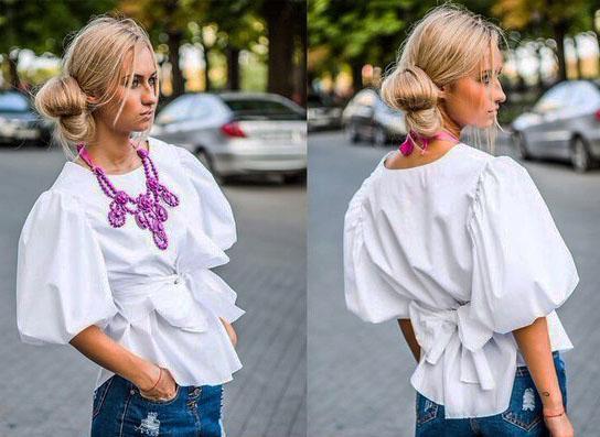 Выкройка блузка ассиметричная 31