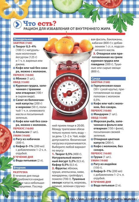 Зимнее меню при похудении