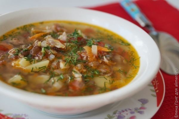 суп с чечевицей куриный рецепт с фото