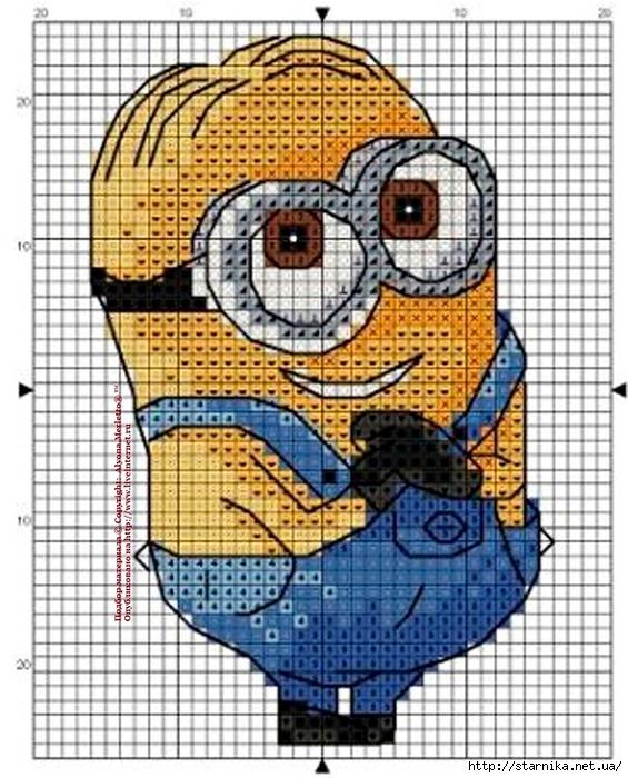 Миньоны схема для вышивания фото 861