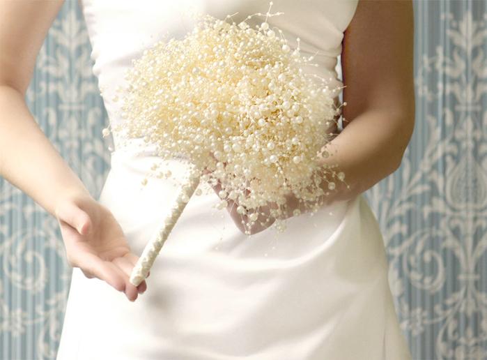 Дешевых цветов, свадебный букет из бусин своими руками