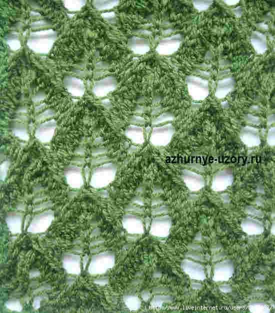 Красивый рельефный узор спицами схема фото 374