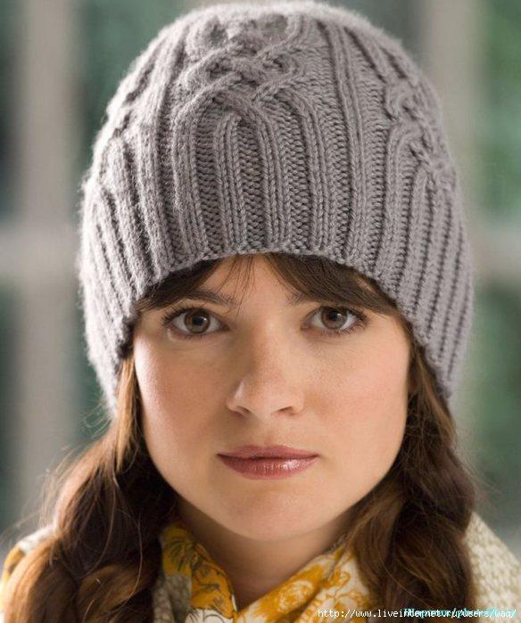 мастер класс вязаной молодёжной шапочки спицами