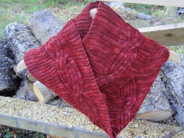 вяжем шарф хомут.