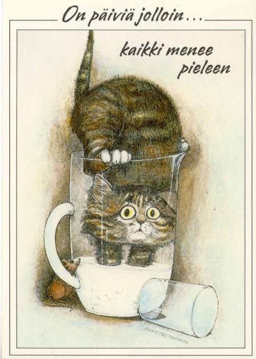 прикольные коты картинки рисованные.