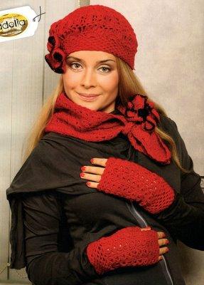 Вязание крючком- аксессуары-шарфы,шапочки,митенки.  Серия сообщений.