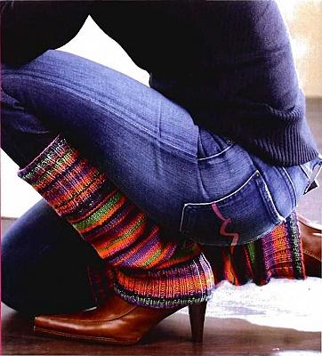 Вязаные гетры спицами Вязание носков.