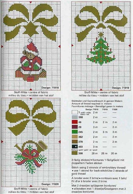 вышивка крестом схемы для начинающих новогодние.