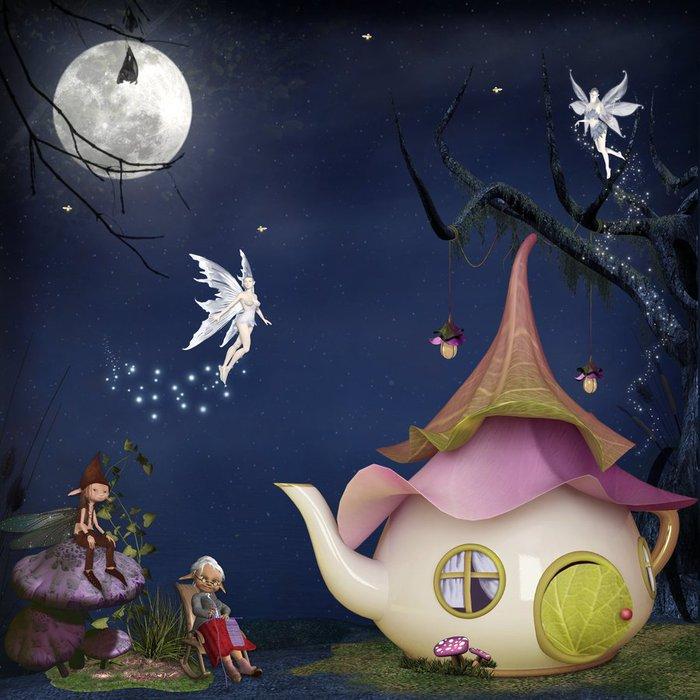 Анимации, сказочные картинки с доброй ночи