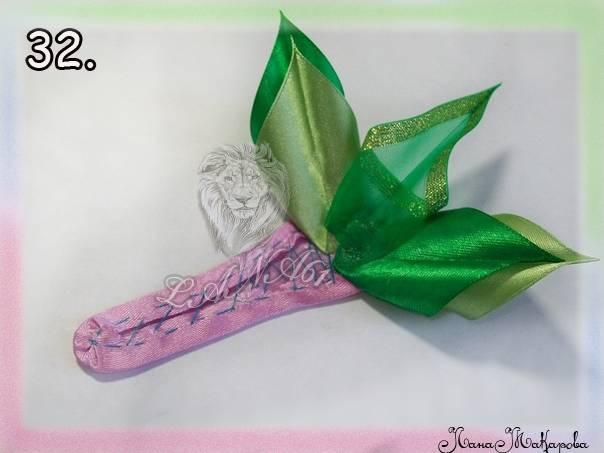 МК Розы из атласных лент.Роскошные цветы. (много фото)