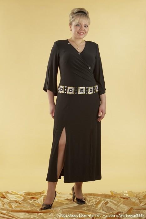 вечернее платье из велюра для полных.