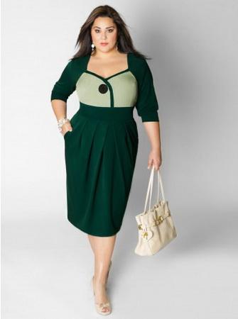 фасоны платьев для полных женщин, также вечерние платья на полных.