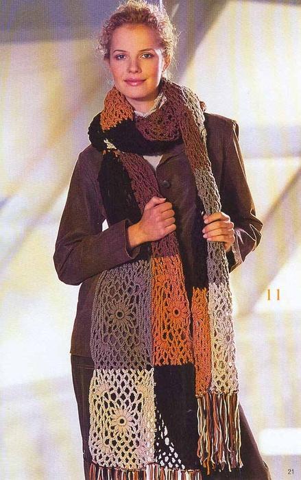 Цветочный шарф.