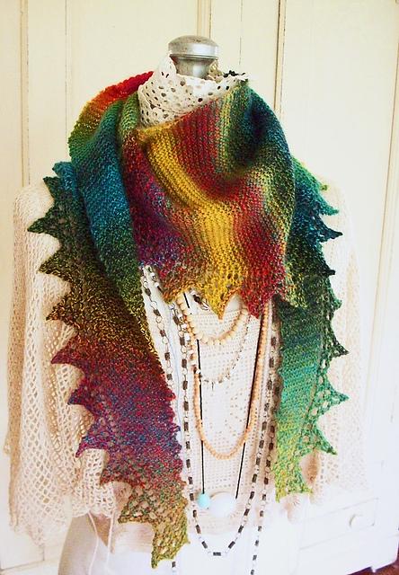 Вязание шарфа для новичков.