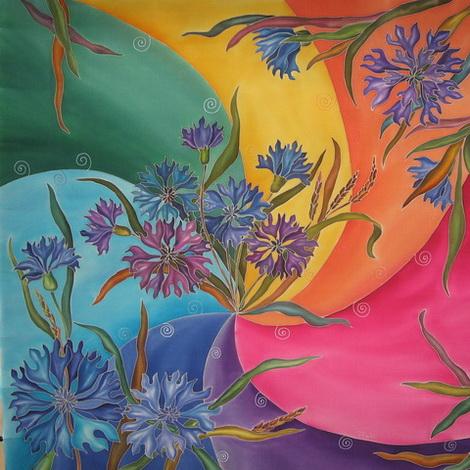 Как я люблю цветастый батик.  Это такая радость для глаз.