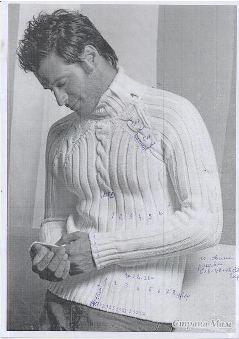 мужские свитера вязание спицами схемы - Сумки.