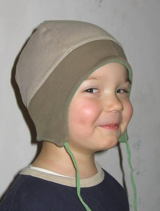 Описание: Выкройка детской трикотажной шапочки.