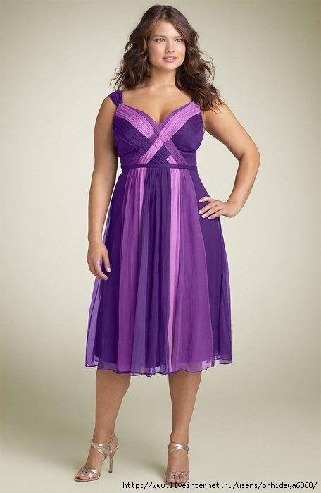 Вечерние платья для полных женщин и девушек.  Модели и фасоны вечерних...